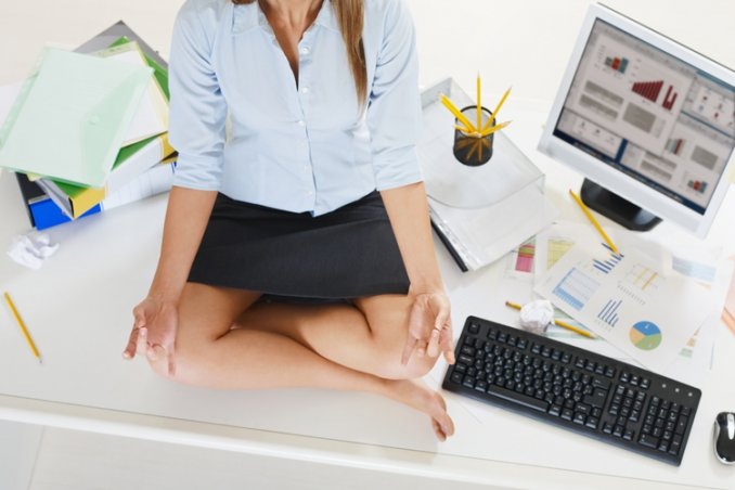 Here Are Some Office Yoga Exercises